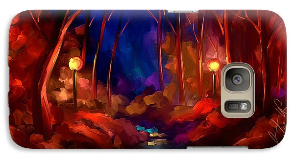 Galaxy Case featuring the painting When I Dream At Night by Steven Lebron Langston