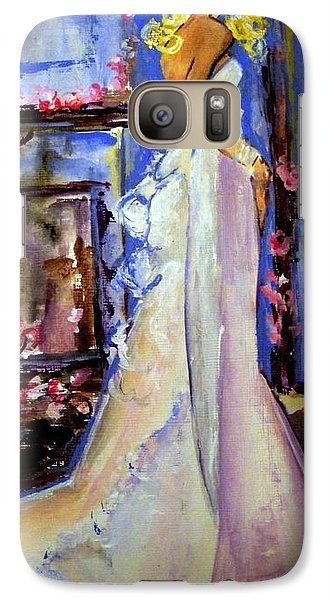 Galaxy Case featuring the painting When Lovely Women by Helena Bebirian