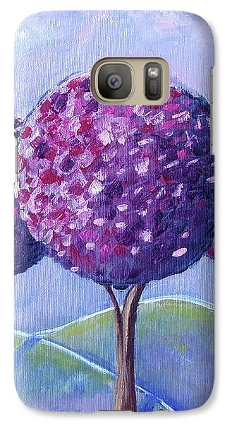 Galaxy Case featuring the painting When The Cherry Trees Are Blooming by Nina Mitkova