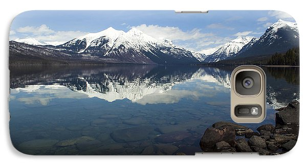 When The Sun Shines On Glacier National Park Galaxy S7 Case