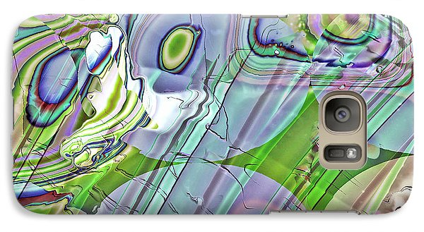 Galaxy Case featuring the digital art When Worlds Collide by Richard Thomas
