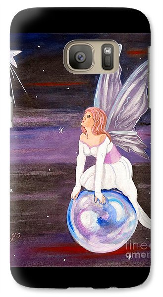Galaxy Case featuring the painting When You Dream by Phyllis Kaltenbach