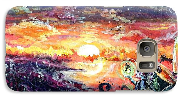 Galaxy Case featuring the painting Where The Fairies Play by Shana Rowe Jackson