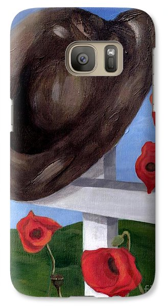 Galaxy Case featuring the painting Where They Fell by Jesslyn Fraser