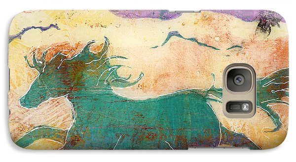Galaxy Case featuring the painting Where Wild Horses Roam by P Maure Bausch