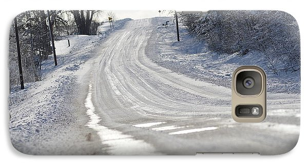 Galaxy Case featuring the photograph Where Will The Road Take You? by Dacia Doroff