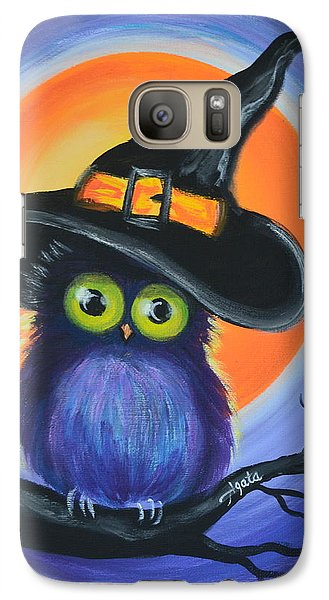 Galaxy Case featuring the painting Owl Spook You by Agata Lindquist
