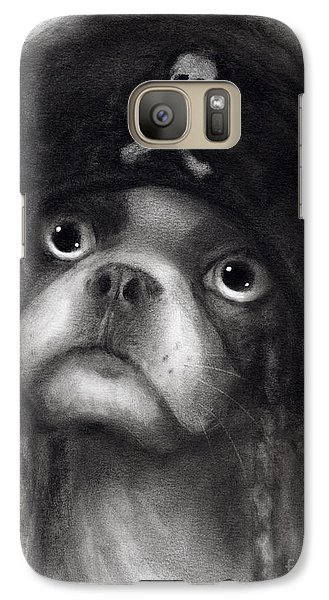 Whimsical Funny French Bulldog Pirate  Galaxy S7 Case by Svetlana Novikova