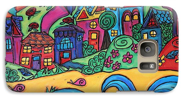 Galaxy Case featuring the painting Whimsical Town Sectional  by Cynthia Snyder