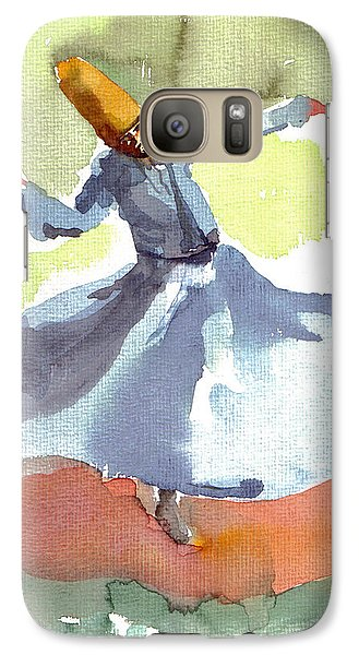 Galaxy Case featuring the painting Whirling Dervish by Faruk Koksal
