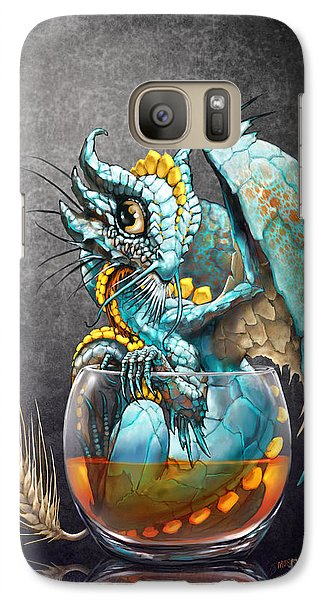 Galaxy Case featuring the digital art Whiskey Dragon by Stanley Morrison