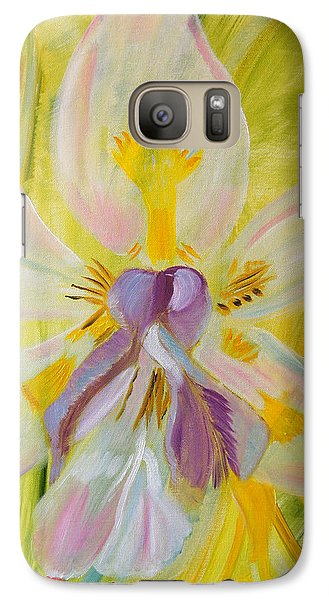 Galaxy Case featuring the painting Whisper by Meryl Goudey