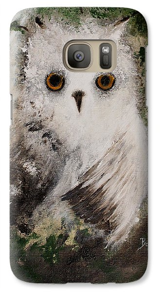 Galaxy Case featuring the painting Whisper The Snowy Owl by Barbie Batson