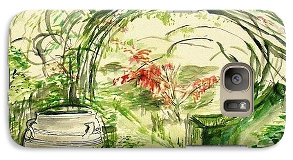 Galaxy Case featuring the painting Whispers Of The Soft Wind by Helena Bebirian