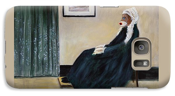 Galaxy Case featuring the painting Whistlin Mother by Randol Burns