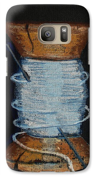 Galaxy Case featuring the drawing White 1 by Joseph Hawkins