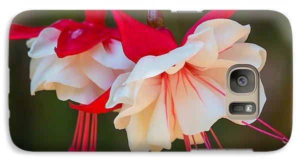 White And Red Fuchsia Galaxy S7 Case