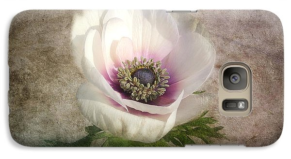 Galaxy Case featuring the photograph White Anemone by Barbara Orenya