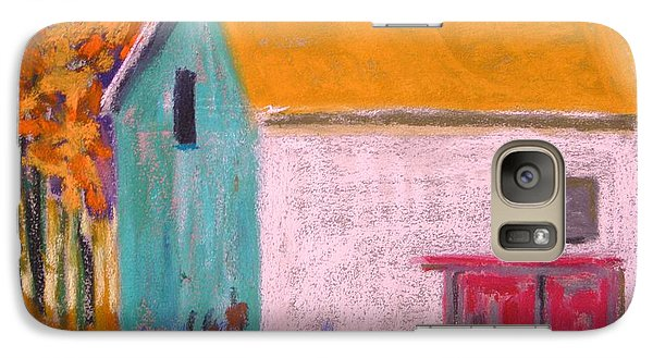 Galaxy Case featuring the painting White Barn by John Williams