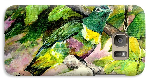 Galaxy Case featuring the painting White-bibbed Fruit Dove  by Jason Sentuf