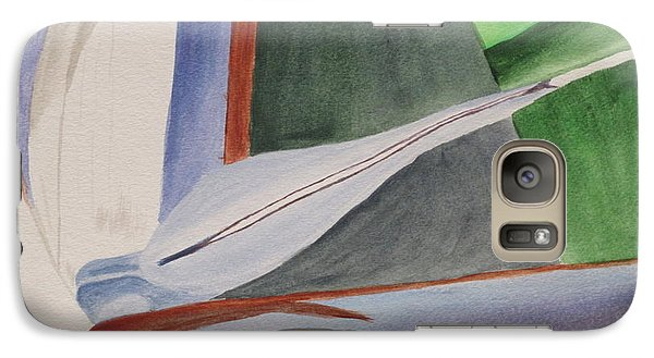 Galaxy Case featuring the painting White Bird Of Paradise 2 by Hilda and Jose Garrancho