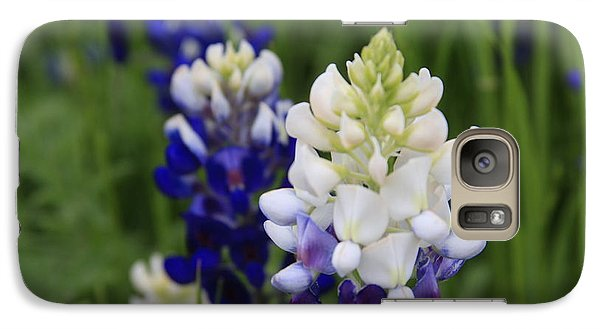 Galaxy Case featuring the photograph White Bluebonnet by Jerry Bunger