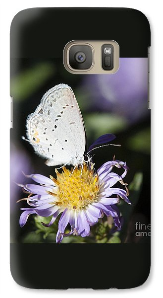Galaxy Case featuring the photograph White Butterfly by Chris Scroggins