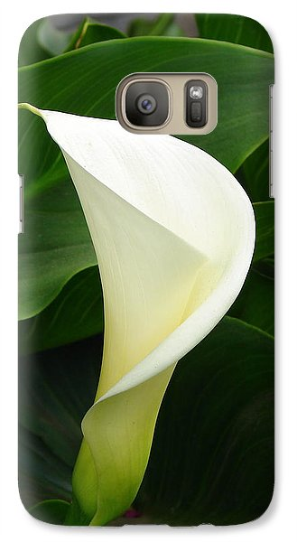 Galaxy Case featuring the photograph White Calla by Lew Davis