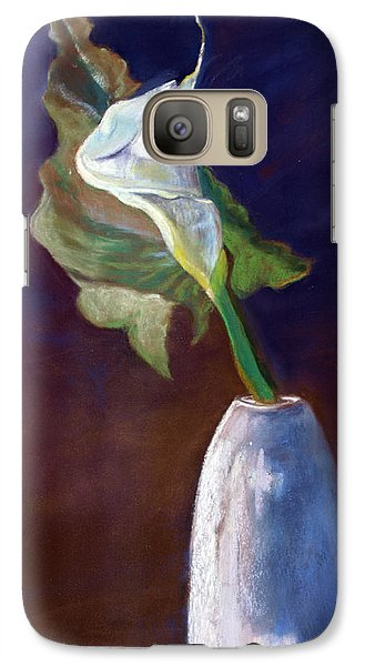 Galaxy Case featuring the pastel White Calle Lily by Julie Maas
