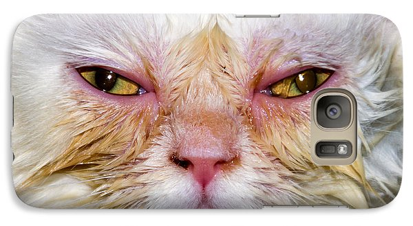Scary White Cat Galaxy S7 Case