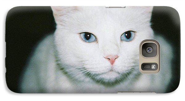 Galaxy Case featuring the photograph White Cat by Ellen O'Reilly