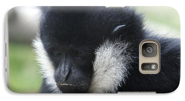 Galaxy Case featuring the photograph White-cheeked Gibbon - 0005 by S and S Photo