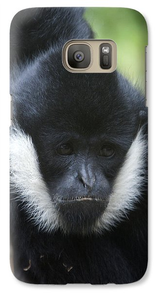 Galaxy Case featuring the photograph White-cheeked Gibbon - 0008 by S and S Photo