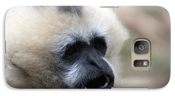 Galaxy Case featuring the photograph White-cheeked Gibbon - 0009 by S and S Photo