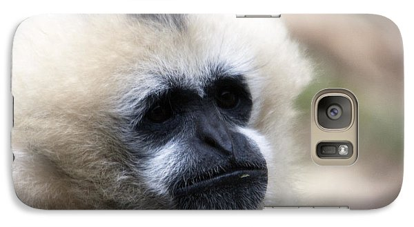 Galaxy Case featuring the photograph White-cheeked Gibbon - 0010 by S and S Photo