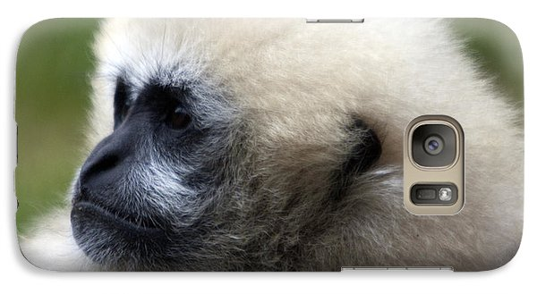 Galaxy Case featuring the photograph White-cheeked Gibbon - 0011 by S and S Photo