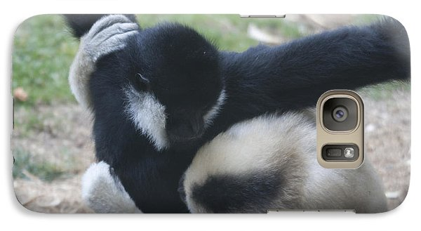 Galaxy Case featuring the photograph White-cheeked Gibbon - 0012 by S and S Photo