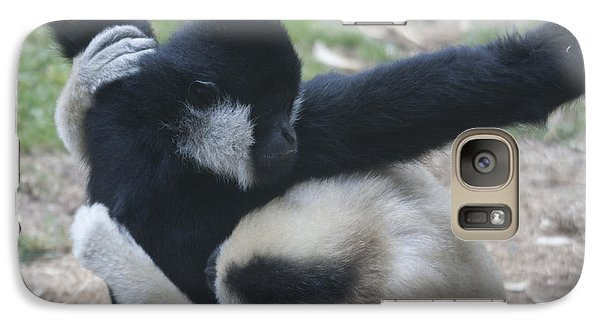 Galaxy Case featuring the photograph White-cheeked Gibbon - 0013 by S and S Photo