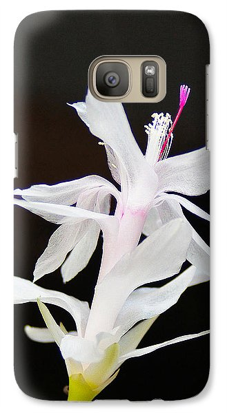 Galaxy Case featuring the photograph White Christmas Cactus by B Wayne Mullins