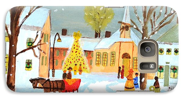 Galaxy Case featuring the painting White Christmas by Magdalena Frohnsdorff