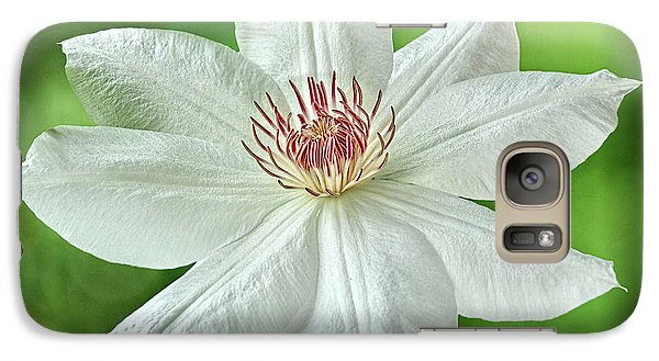 Galaxy Case featuring the photograph White Clematis by Richard Farrington