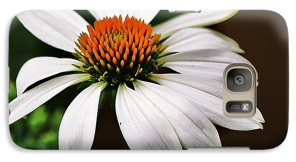 Galaxy Case featuring the photograph White Coneflower by Al Fritz