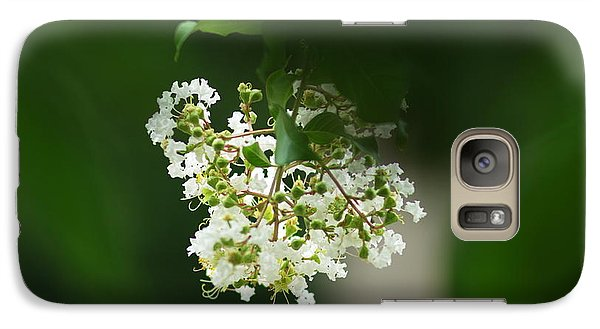 Galaxy Case featuring the photograph White Crepe Myrtle Blossom by Suzanne Powers