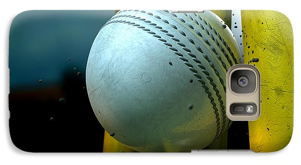 White Cricket Ball And Wickets Galaxy Case by Allan Swart