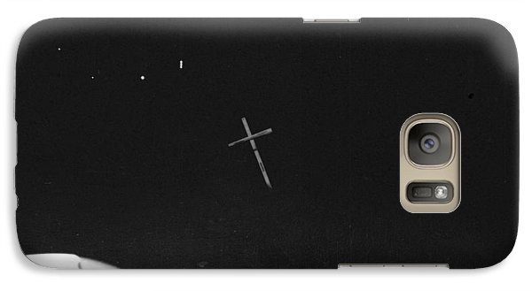 Galaxy Case featuring the photograph White Cross by Steven Macanka