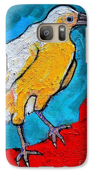 Galaxy Case featuring the painting White Crow by Ana Maria Edulescu
