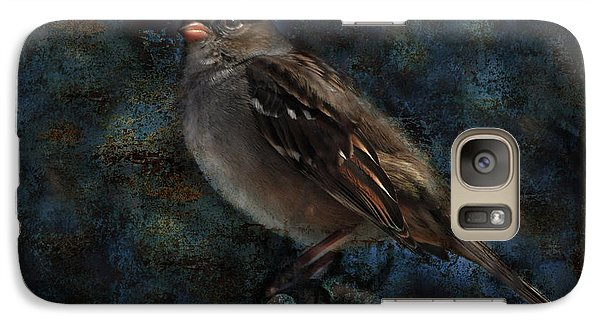 Galaxy Case featuring the photograph White-crowned Sparrow by Barbara Manis