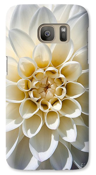Galaxy Case featuring the photograph White Dahlia by Carsten Reisinger