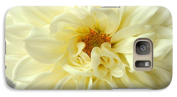Galaxy Case featuring the photograph White Dahlia by Olivia Hardwicke