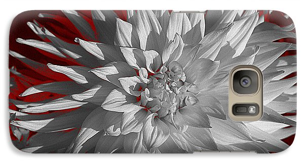 Galaxy Case featuring the digital art White Dahlia by Richard Farrington